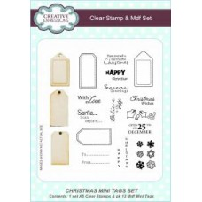 Christmas Mini Tags A5 Clear Stamp & Mdf Set