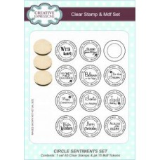 Circle Sentiments A5 Clear Stamp & Mdf Set