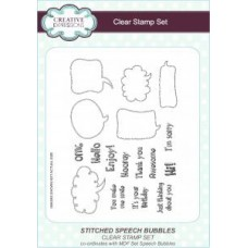 Stitched Speech Bubbles Clear Stamp Set