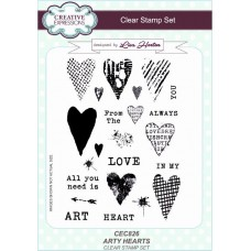 Arty Hearts A5 Clear Stamp Set