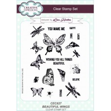 Beautiful Wings A5 Clear Stamp Set