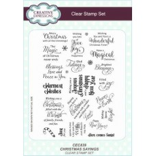 Christmas Sayings - A5 Clear Stamp Set