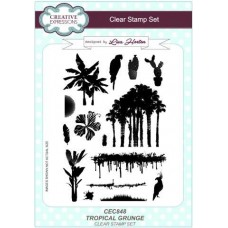 Tropical Grunge A5 Clear Stamp Set