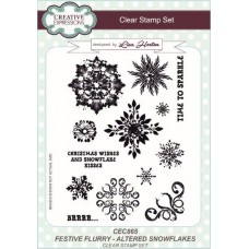 Festive Flurry Altered Snowflakes A5 Clear Stamp Set