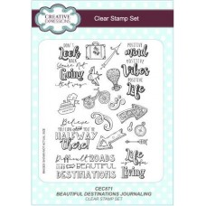 Beautiful Destinations Journaling A5 Clear Stamp Set