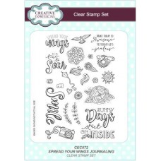 Spread Your Wings Journaling A5 Clear Stamp Set