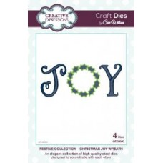 Festive Collection - Christmas Joy Wreath Die