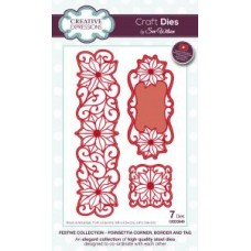 Festive Collection - Poinsettia Corner, Border & Tag Dies