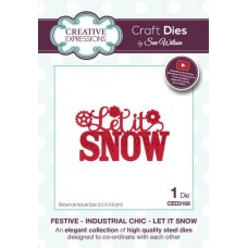 Festive Industrial Chic - Let It Snow