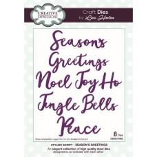 Stylish Script Collection Seasons Greetings Die Set