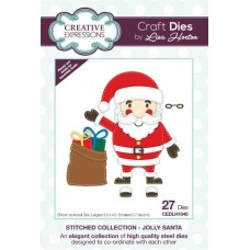 Stitched Collection - Jolly Santa Craft Die