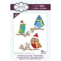 Stitched Collection - Festive Birds Craft Die