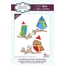 Stitched Collection - Festive Birds Craft Die