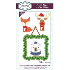 Stitched Collection - Christmas Characters Craft Die