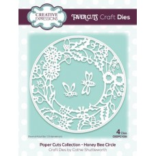 Paper Cuts Collection - Honey Bee Circle Craft Die