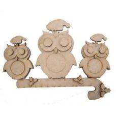 Mdf Christmas Owl Trio
