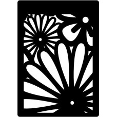 Creative Expressions Mini Stencil Floral Burst
