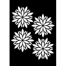 Creative Expressions Mini Stencil Festive Flowers