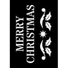 Creative Expressions Mini Stencil Merry Christmas