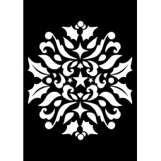 Creative Expressions Mini Stencil Ornamental Holly