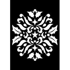 Creative Expressions Mini Stencil Ornamental Holly
