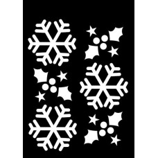 Creative Expressions Mini Stencil Winter Holly - DISPATCHING WED 26th SEPT