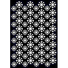 Creative Expressions A5 Stencil Snowflake Cluster