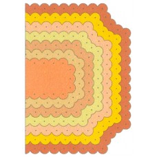 Cheery Lynn - Mega Dies - Scalloped Coved Rectangle