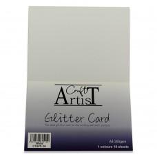 Craft Artist - A4 Glitter Card - White