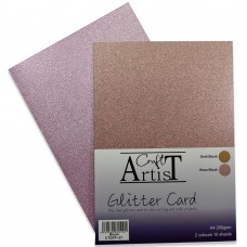 Craft Artist - A4 Glitter Card - Blush