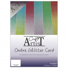 Craft Artist - Ombre Glitter Card Pack A4