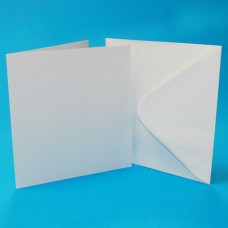 Craft UK - 7x7 White Cards & Envelopes (25)