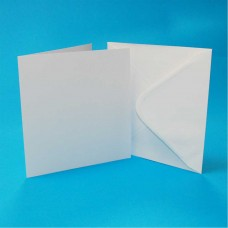 Craft UK - 5x5 White Cards & Envelopes (50)
