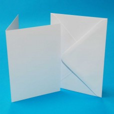 Craft UK - 5x7 White Cards & Envelopes (50)