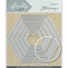 Card Deco Essentials Cutting Dies - Stitch Hexagon