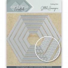 Card Deco Essentials Cutting Dies - Stitch Hexagon