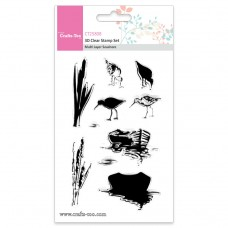 Crafts Too - 3D Clear Stamp Set - Multi Layer Seashore