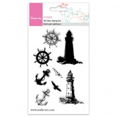 Crafts Too - 3D Clear Stamp Set - Multi Layer Lighthouse