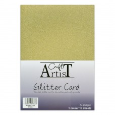 Craft Artist - A4 Glitter Card - Gold