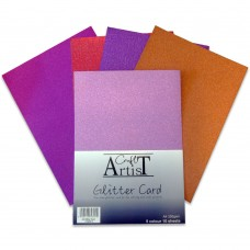 Craft Artist - A4 Glitter Card - Warm Tones
