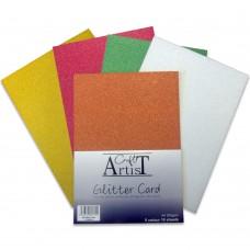 Craft Artist - A4 Glitter Card - Festive Tones