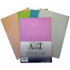 Craft Artist - A4 Glitter Card - Cool Tones