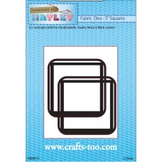 """Handmade By Hayley - Fabric Dies - 3"""" Squares - DISPATCHING 3 - 5 DAYS"""