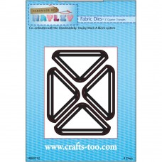 """Handmade By Hayley - Fabric Dies - 3"""" Quarter Triangles - DISPATCHING 3 - 5 DAYS"""