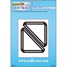 "Handmade By Hayley - Fabric Dies - 3"" Half Triangles - DISPATCHING 3 - 5 DAYS"