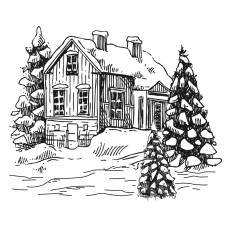 Two Jays Clear Stamp - Festive House