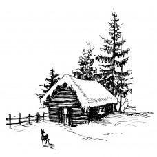 Two Jays Clear Stamp - Festive Farm