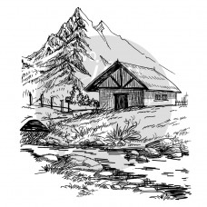 Two Jays Clear Stamp - Mountain House