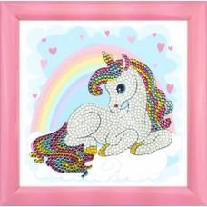 Unicorn Rainbow - Frameable Crystal Art 16cm