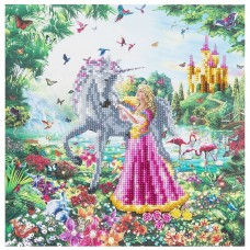 Princess and the Unicorn - Crystal Art Frame Kit 30cm